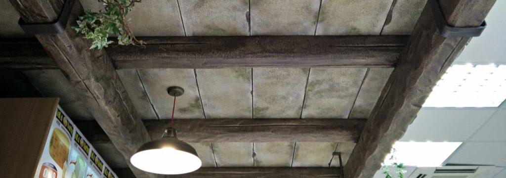 Lavorazione polistirolo espanso e polistirene polidea for Copri travi finto legno