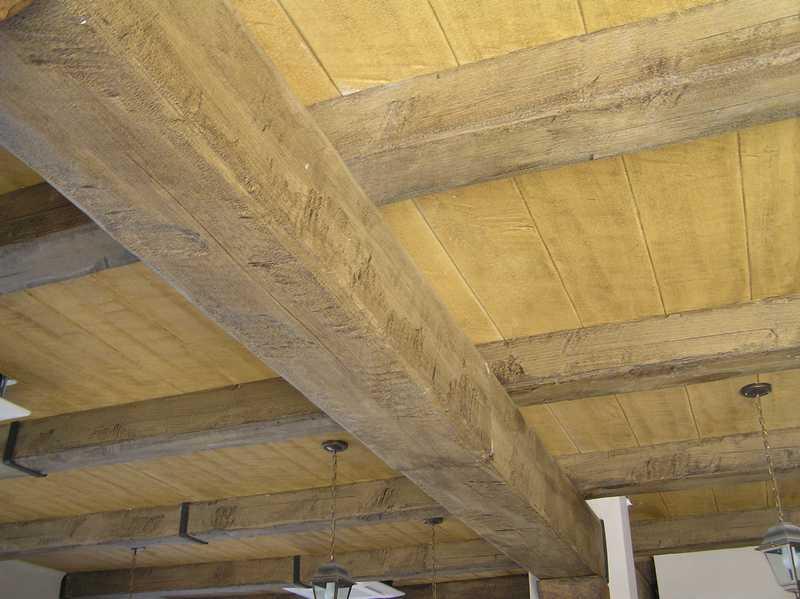 Travi finto legno in polistirolo e poliuretano, prezzi, vendita online, produzione su misura...