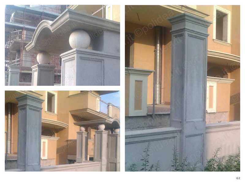 Forme polistirolo per pilastri
