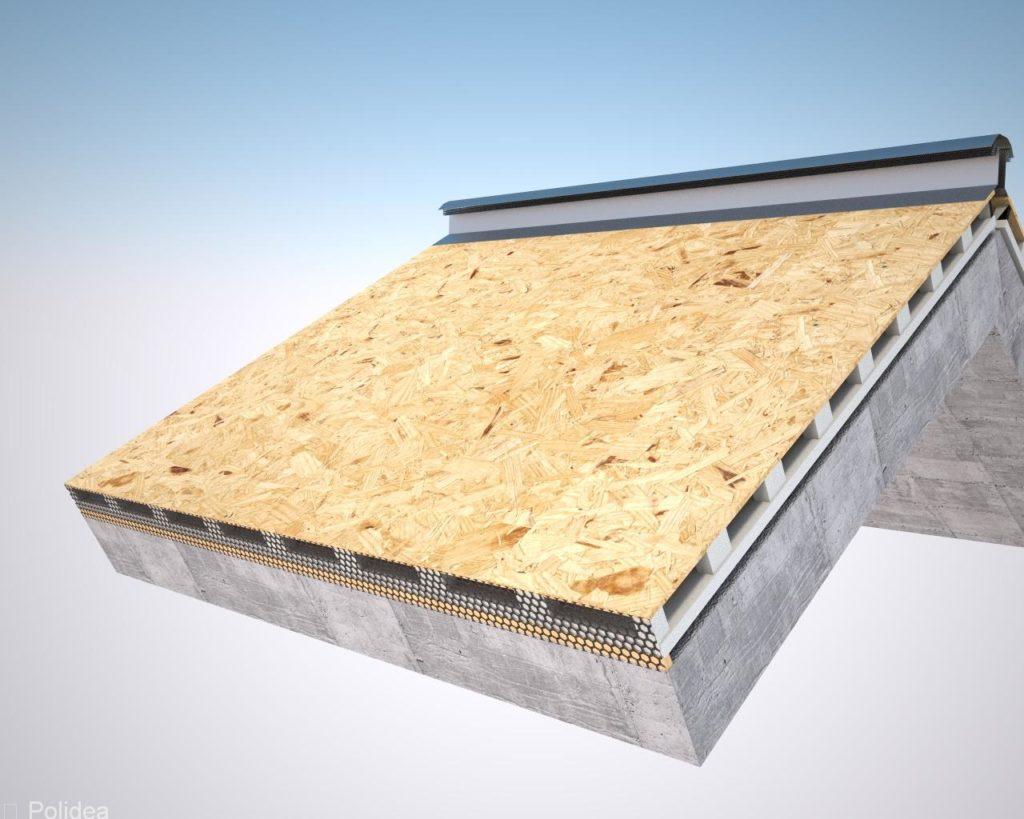 Pannello per tetto ventilato in polistirolo espanso - Pannelli osb per esterno ...