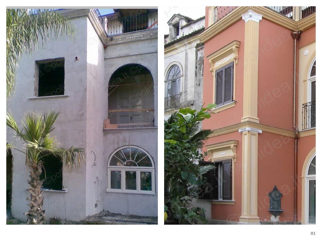 Facciate esterne ville hl85 pineglen - Cornici finestre in polistirolo ...