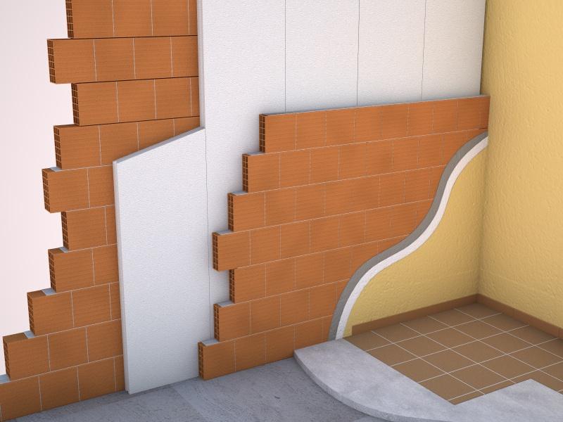 Isolamento intercapedine con pannelli in polistirolo - Polistirolo decorativo per pareti ...