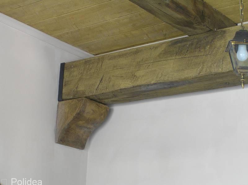 Soffitto In Legno Finto : Travi finto legno in polistirolo e poliuretano prezzi produzione