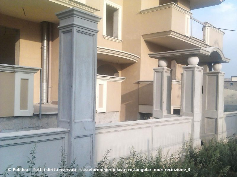 Casseforme per pilastri , cancelli ,muri di recinzione