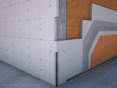 Pannelli in polistirolo per isolamento termico a cappotto