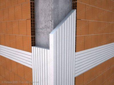 pannello in polistirolo per ponti termici