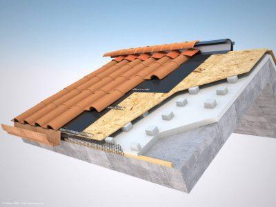 Pannello per tetto ventilato